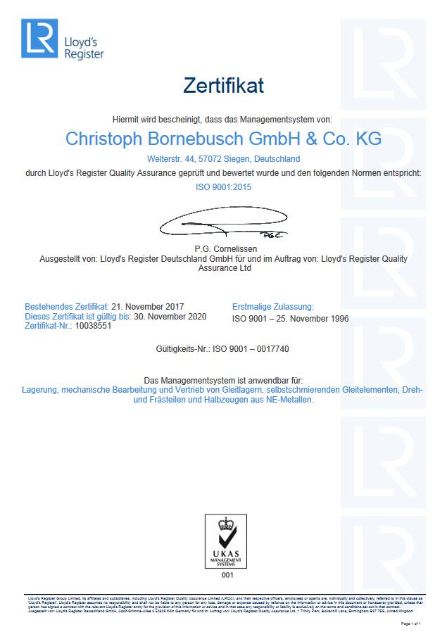 Ein Zertifikat