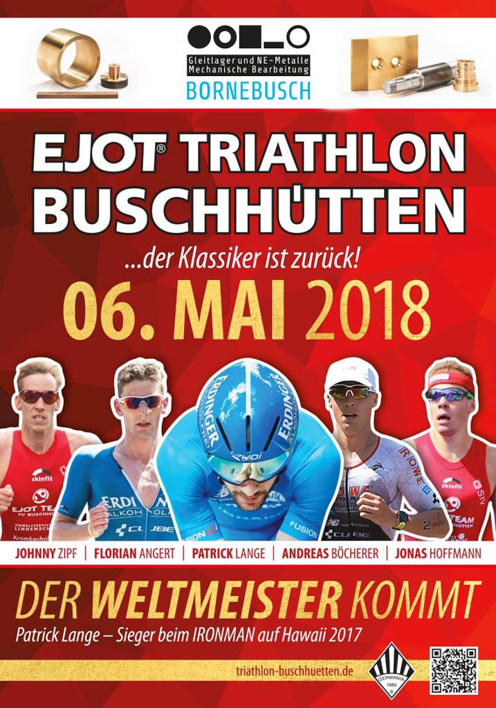 Plakat vom Bornebusch Triathlon 2018